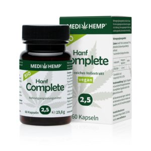 MEDIHEMP 2,5% COMPLETE CBD KAPSZULA 60db
