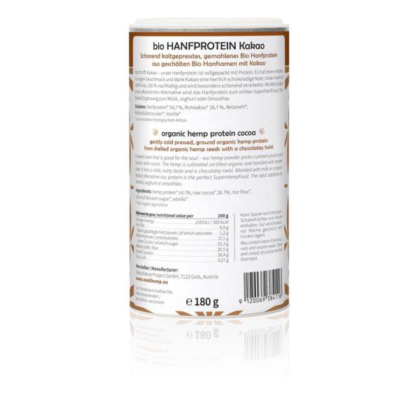 Medihemp organikus kenderprotein (kakós íz) 180g