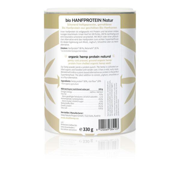 Medihemp organikus kenderprotein (natúr íz) 330g