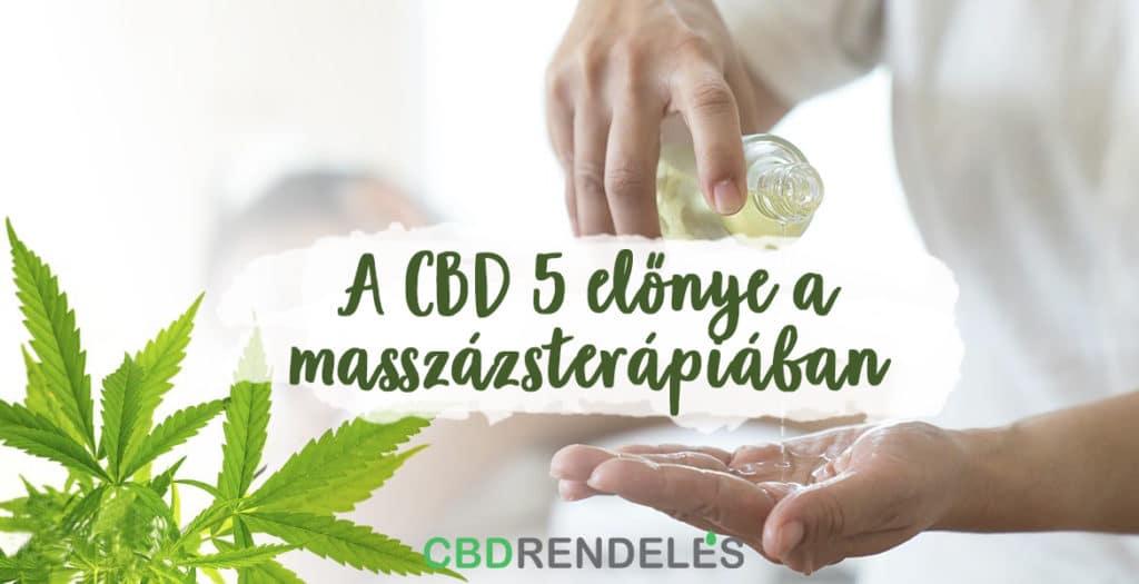 CBD olaj előnye a masszázsterápiában