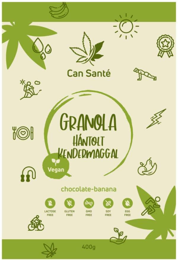Can Sante Granola - hántolt kendermaggal - csoki, banán íz